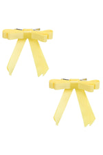 Load image into Gallery viewer, Grosgrain Bow Clip Set (2) - Lemon - PROJECT 6, modest fashion