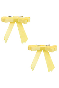 Grosgrain Bow Clip Set (2) - Lemon - PROJECT 6, modest fashion