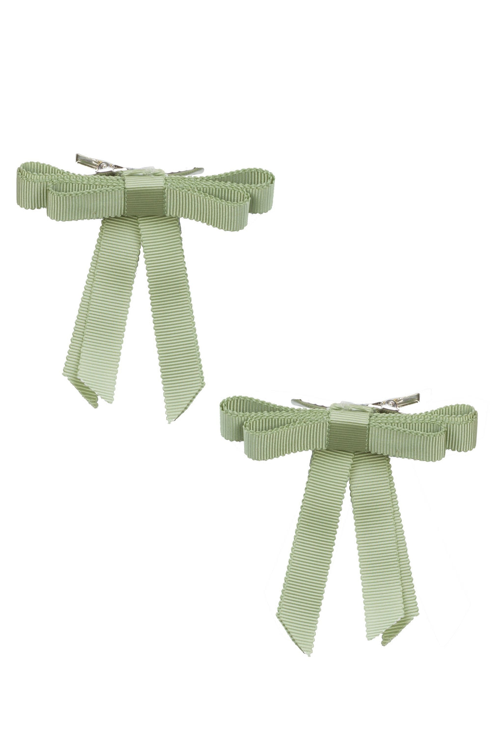 Grosgrain Bow Clip Set (2) - Spring Moss - PROJECT 6, modest fashion