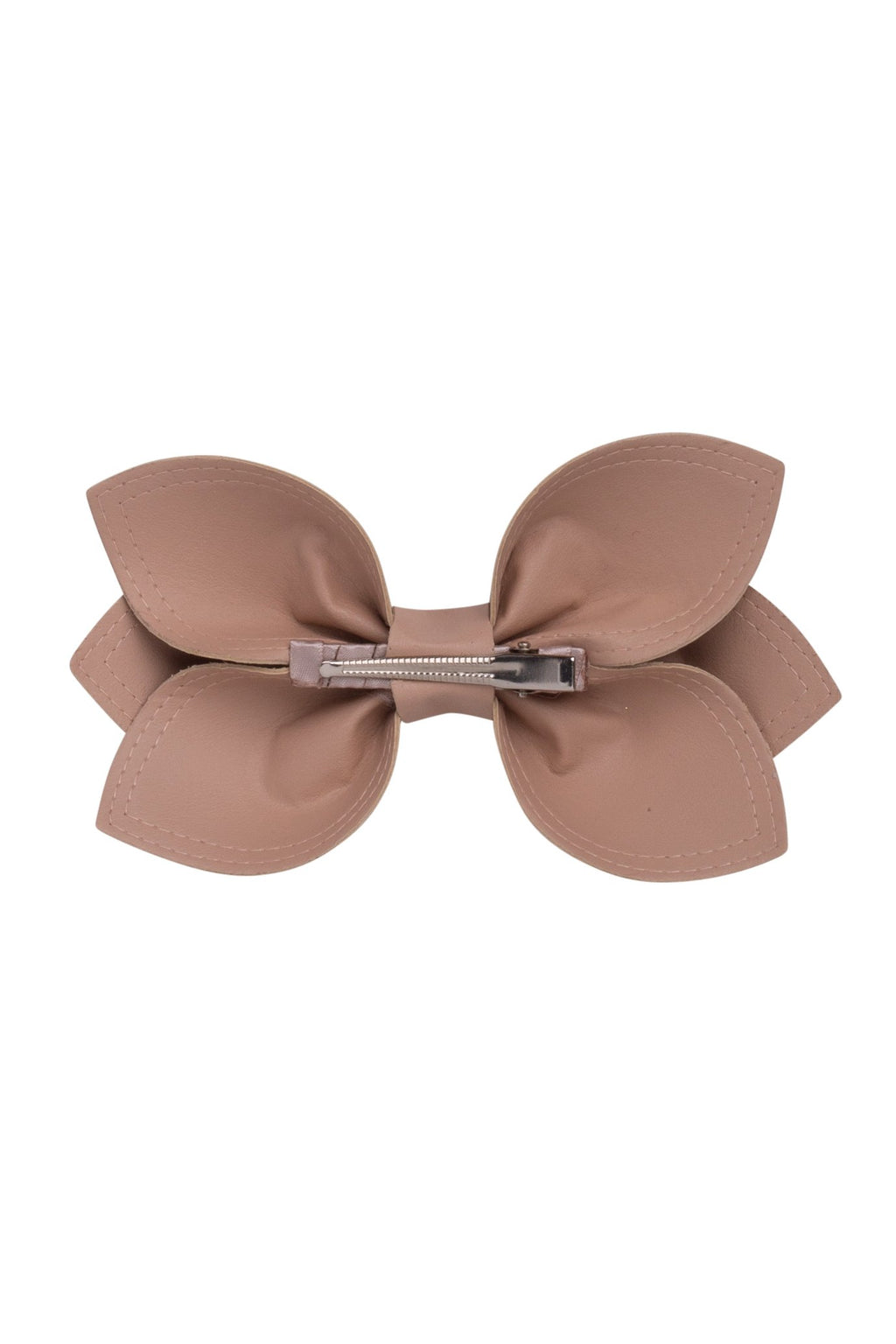 Growing Orchid Clip/Bowtie - Taupe Leather