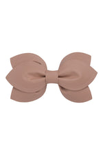 Load image into Gallery viewer, Growing Orchid Clip/Bowtie - Taupe Leather