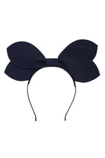 Load image into Gallery viewer, Growing Orchid Headband - Navy Leather