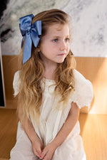 Load image into Gallery viewer, Oversized Bow Pony/Clip - Navy - PROJECT 6, modest fashion