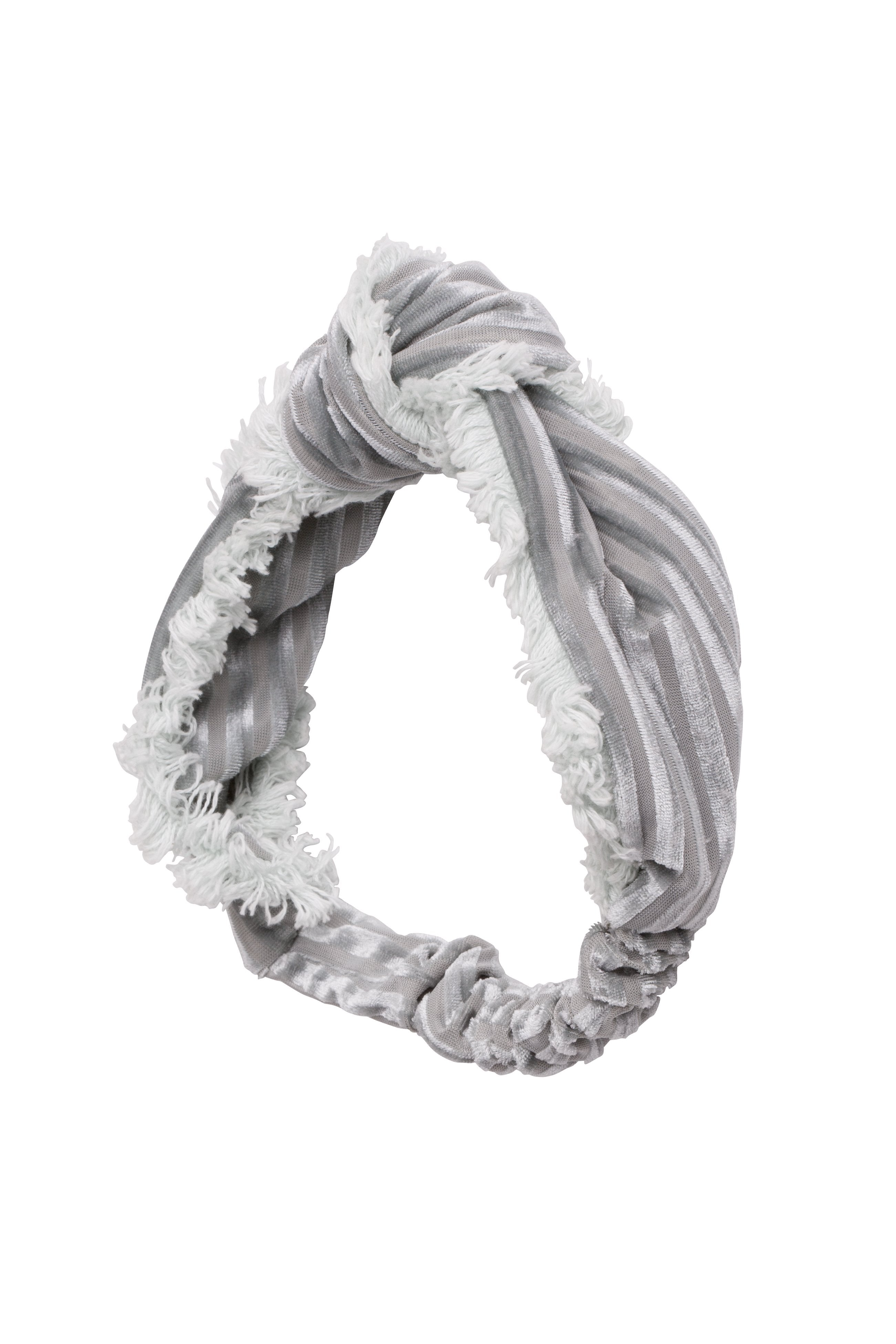 Knot Fringe Wrap - Silver - PROJECT 6, modest fashion