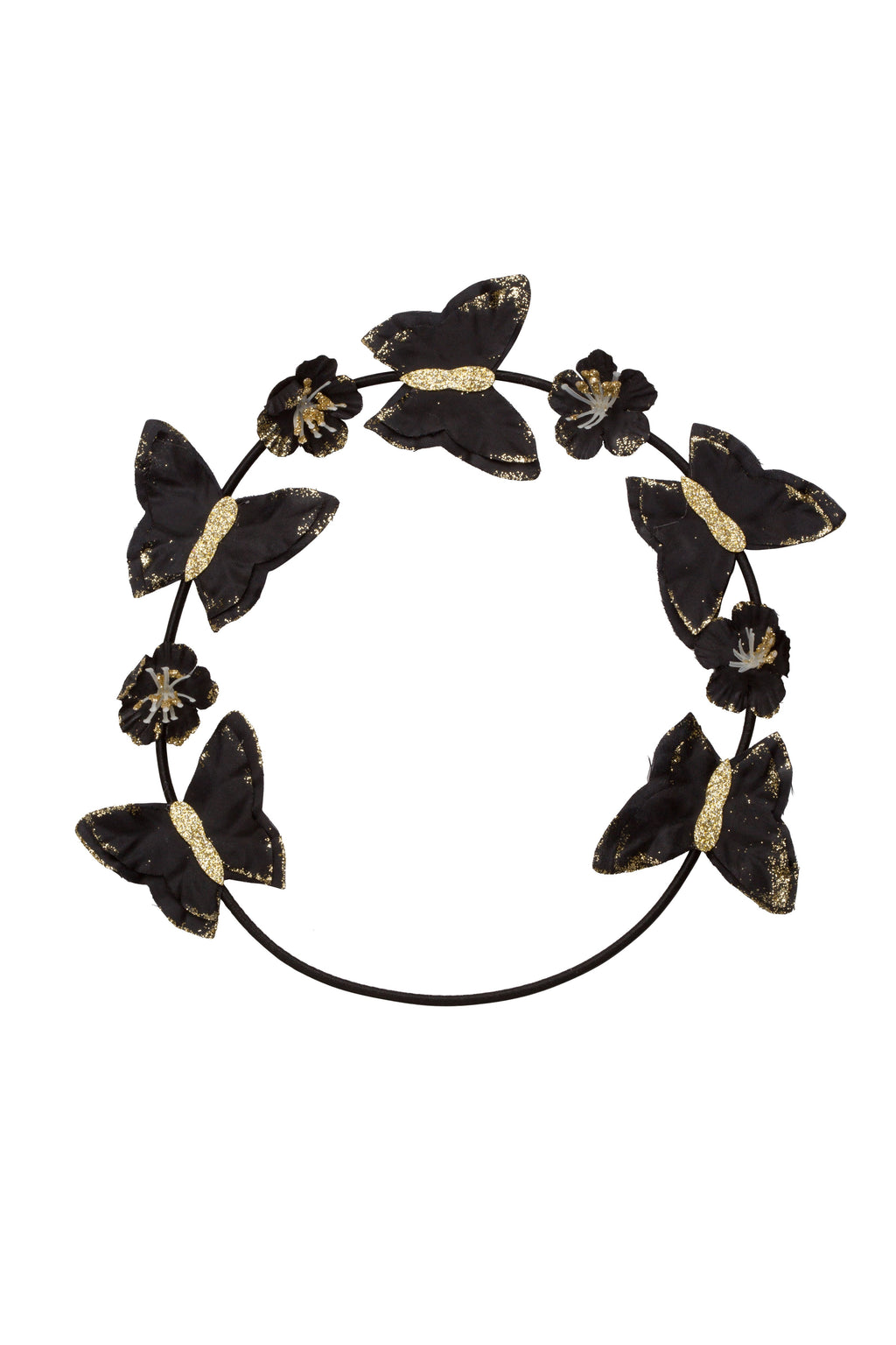 Butterfly Hair Wrap Wreath - Black - PROJECT 6, modest fashion