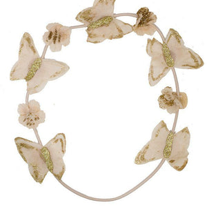Butterfly Hair Wrap - Blush with Gold Glitter