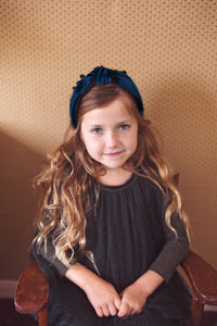 Knot Fringe Headband - Blue - PROJECT 6, modest fashion