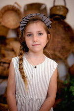 Load image into Gallery viewer, Pleated Ribbon Grosgrain Headband - Cream - PROJECT 6, modest fashion