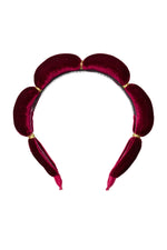 Load image into Gallery viewer, Jasmin Headband - Burgundy Velvet - PROJECT 6, modest fashion
