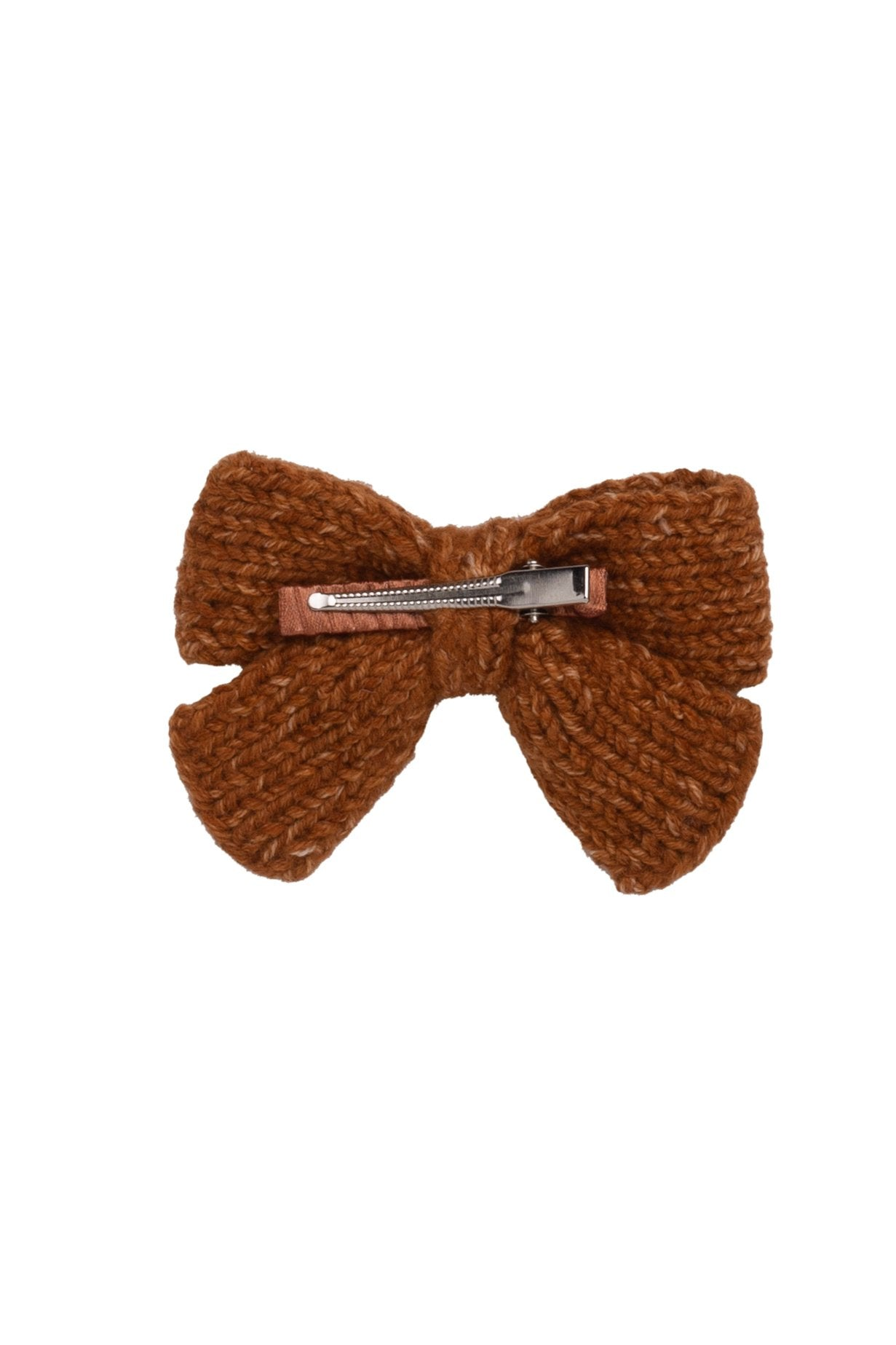 Knitted Sweet Bow Clip - Copper