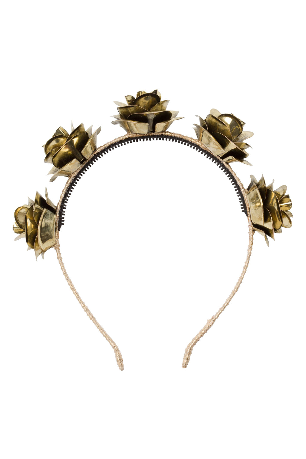 Lonely Roses Headband - Gold - PROJECT 6, modest fashion
