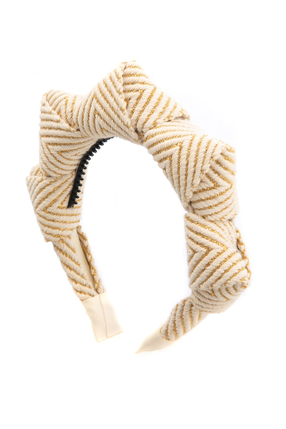 Mountain Queen Headband - Gold/Ivory stripe - PROJECT 6, modest fashion