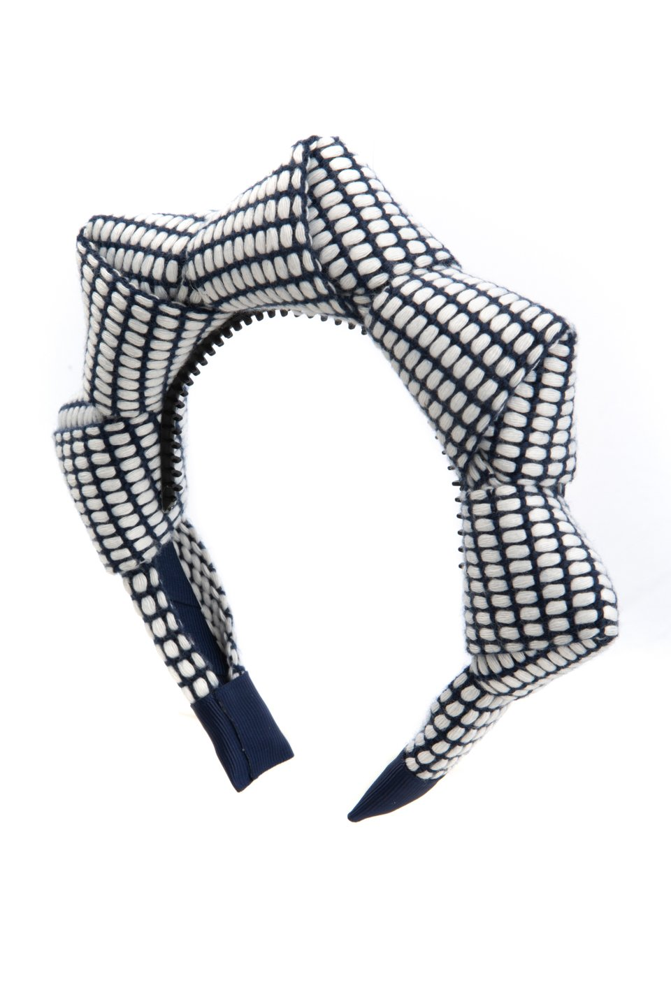 Mountain Queen Headband - Navy Grid - PROJECT 6, modest fashion