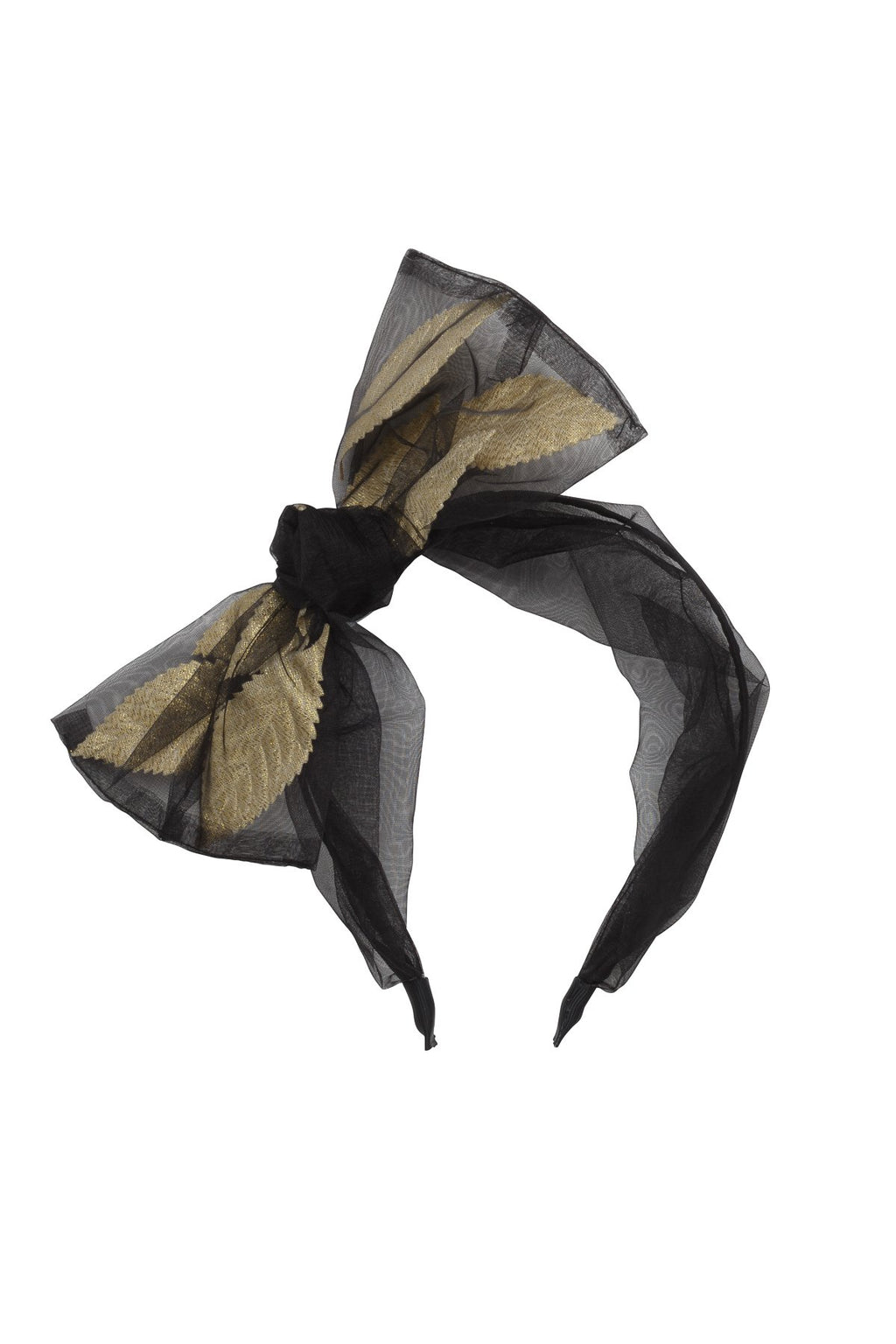 Organza Petal Headband - Black - PROJECT 6, modest fashion