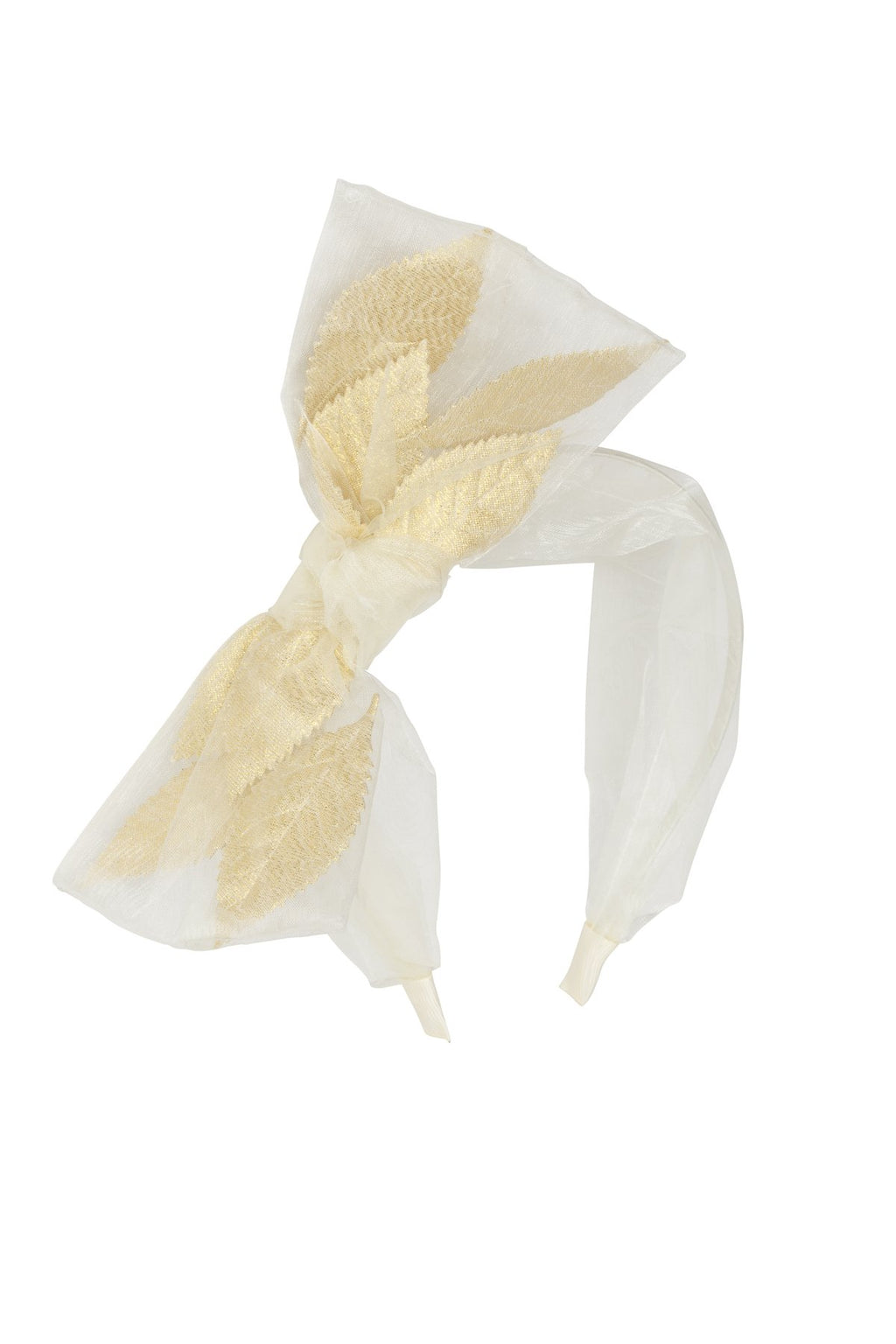 Organza Petal Headband - Ivory - PROJECT 6, modest fashion