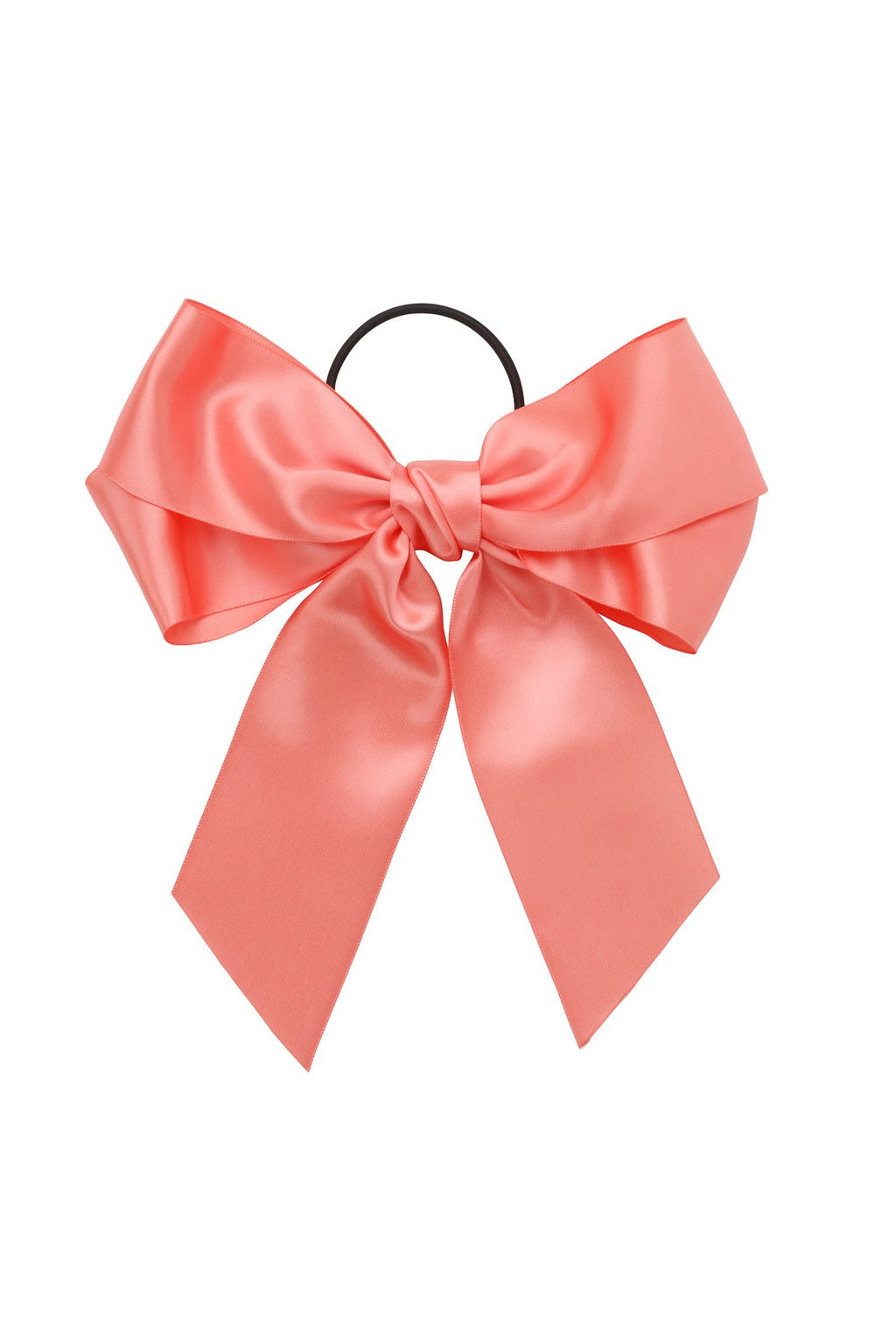 Oversized Bow Pony/Clip - Coral - PROJECT 6, modest fashion