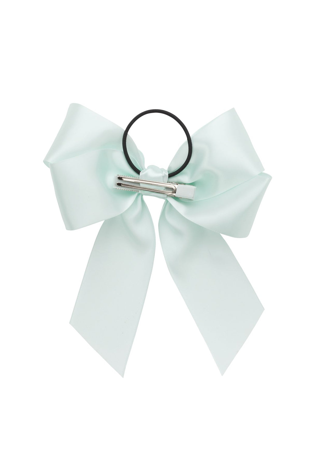 Oversized Bow Pony/Clip  - Ice Mint - PROJECT 6, modest fashion