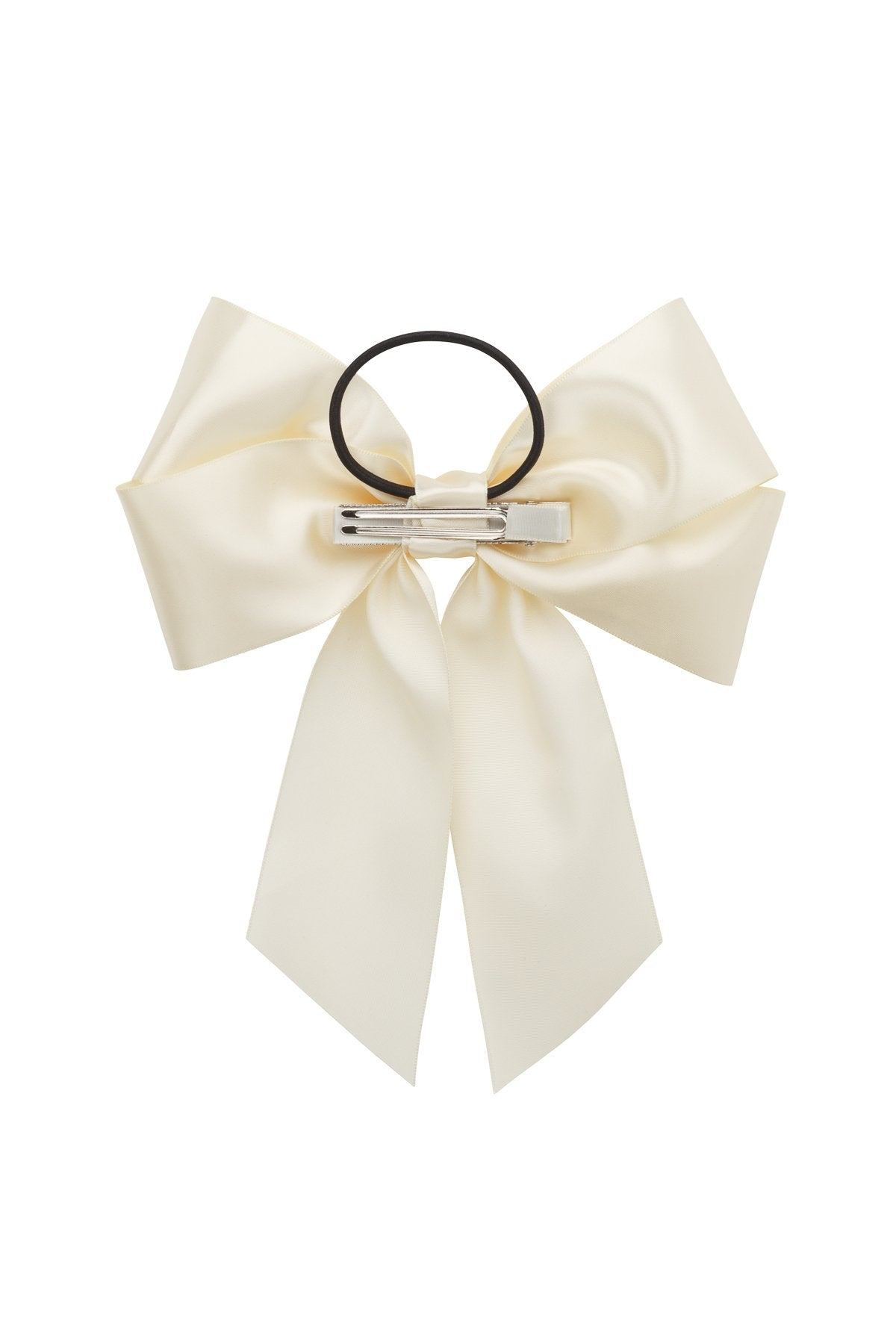Oversized Bow Pony/Clip - Ivory - PROJECT 6, modest fashion