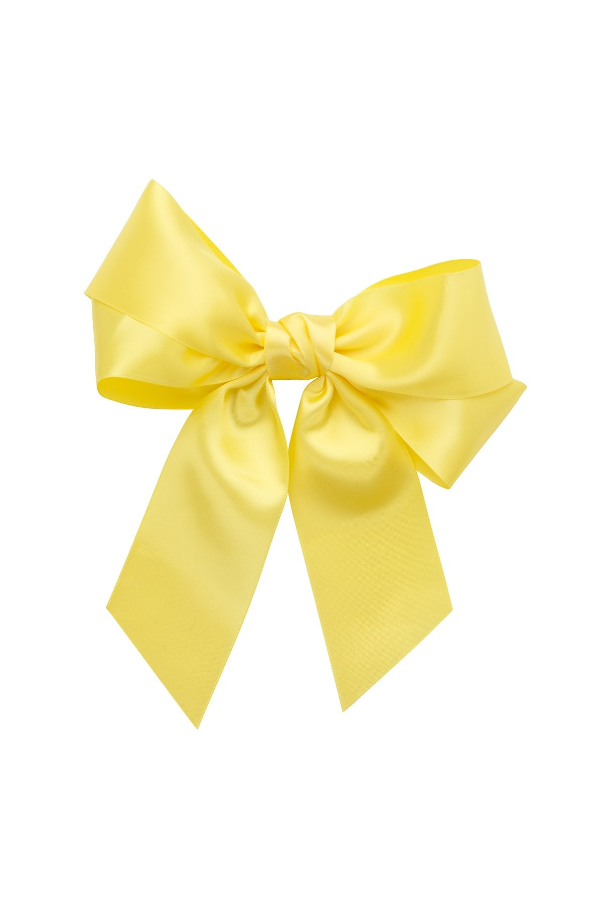 Oversized Bow Pony/Clip - Lemon - PROJECT 6, modest fashion