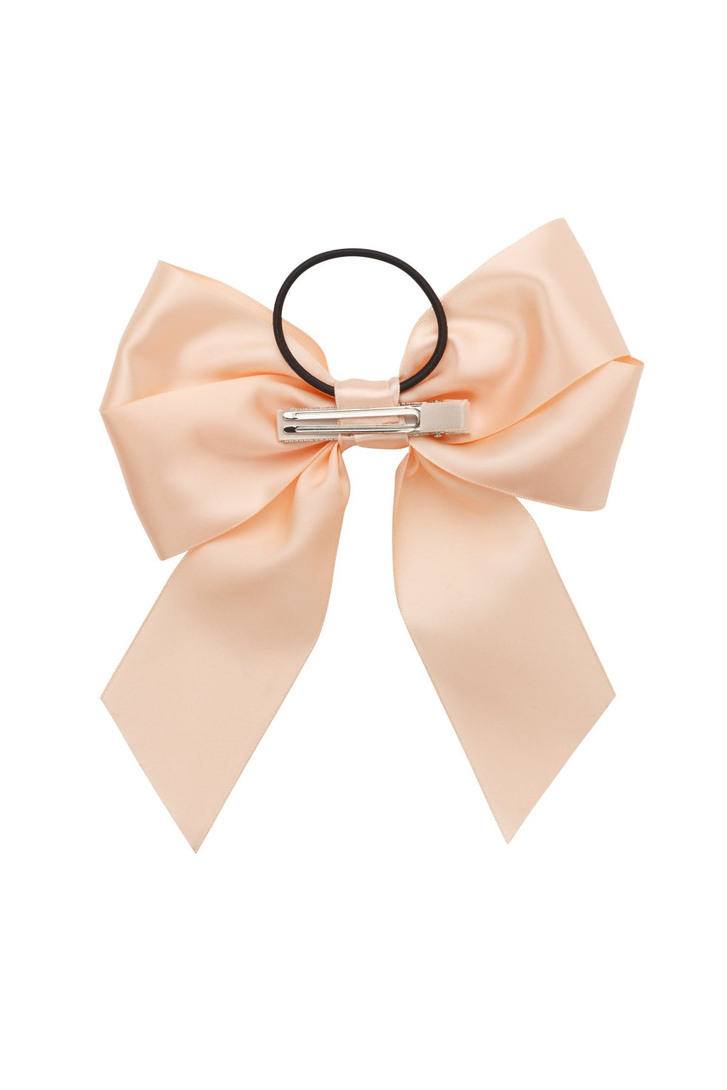 Oversized Bow Pony/Clip - Petal Peach - PROJECT 6, modest fashion
