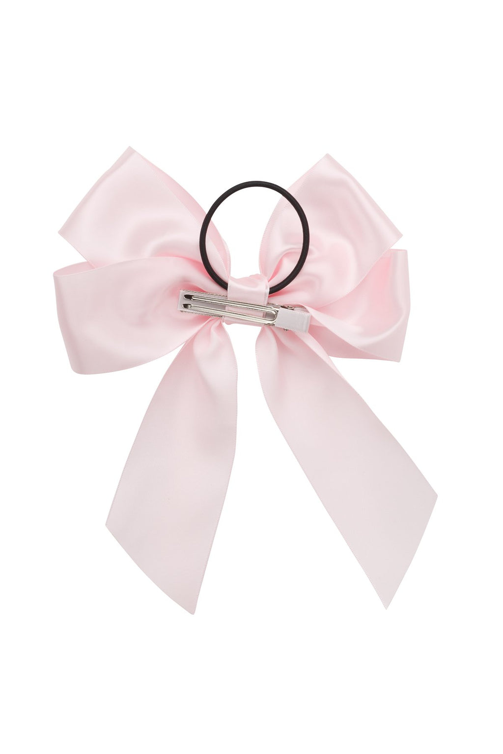 Oversized Bow Pony/Clip - Powder Pink - PROJECT 6, modest fashion