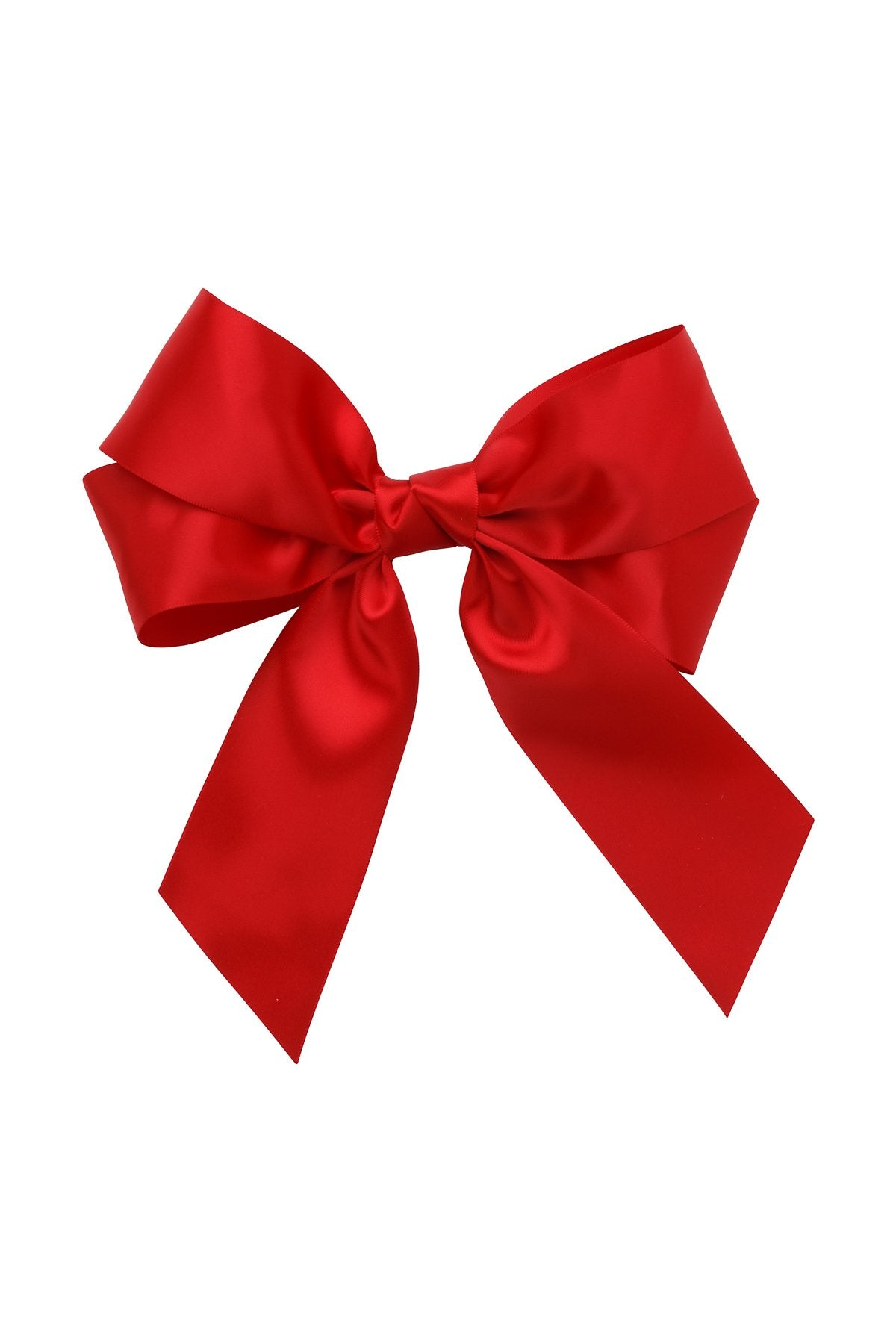 Oversized Bow Pony/Clip - Red - PROJECT 6, modest fashion