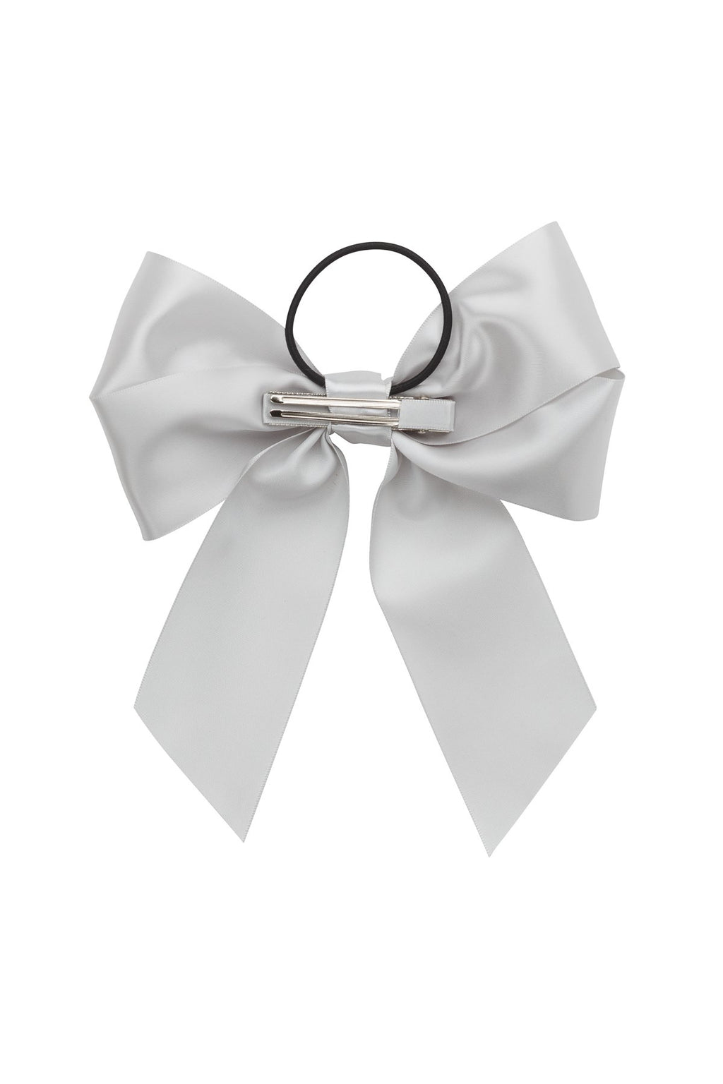 Oversized Bow Pony/Clip - Shell Grey - PROJECT 6, modest fashion
