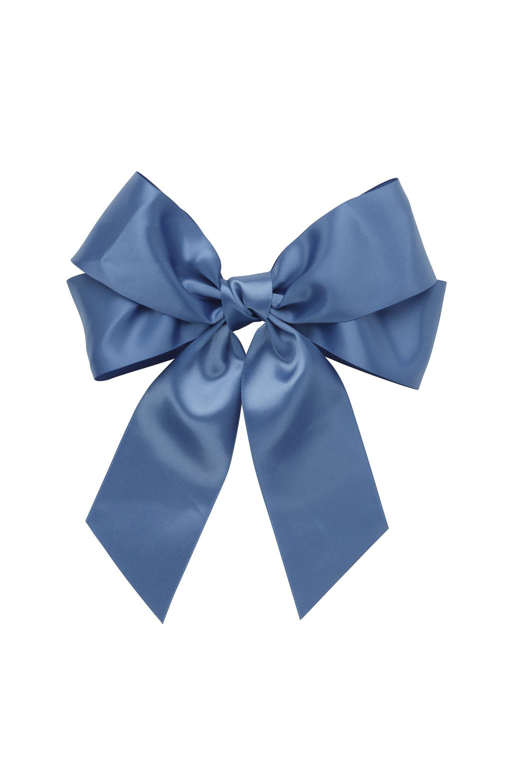 Oversized Bow Pony/Clip  - Smoke Blue - PROJECT 6, modest fashion