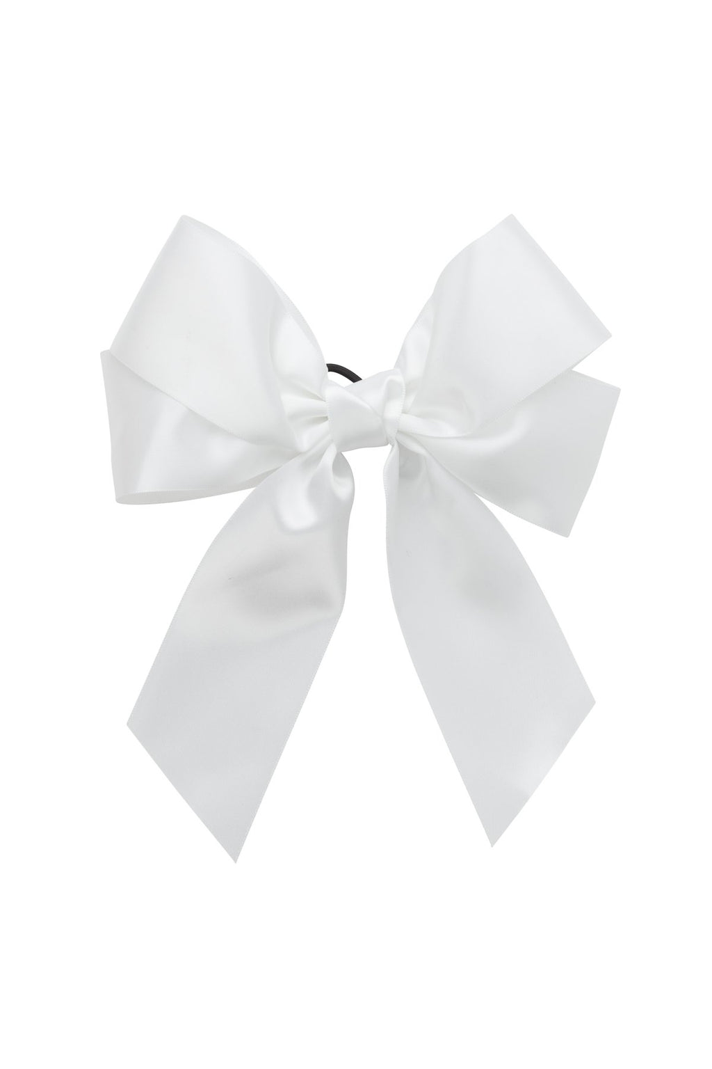 Oversized Bow Pony/Clip - White - PROJECT 6, modest fashion