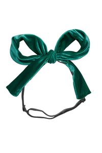 Party Bow Wrap - Jewel Tone Green Velvet - PROJECT 6, modest fashion