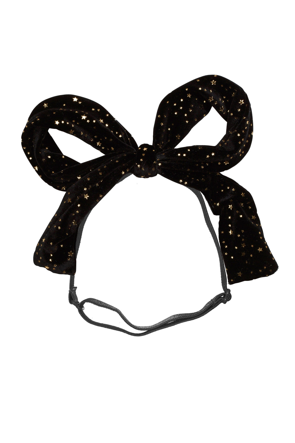 Party Bow Wrap - Black Star Velvet - PROJECT 6, modest fashion
