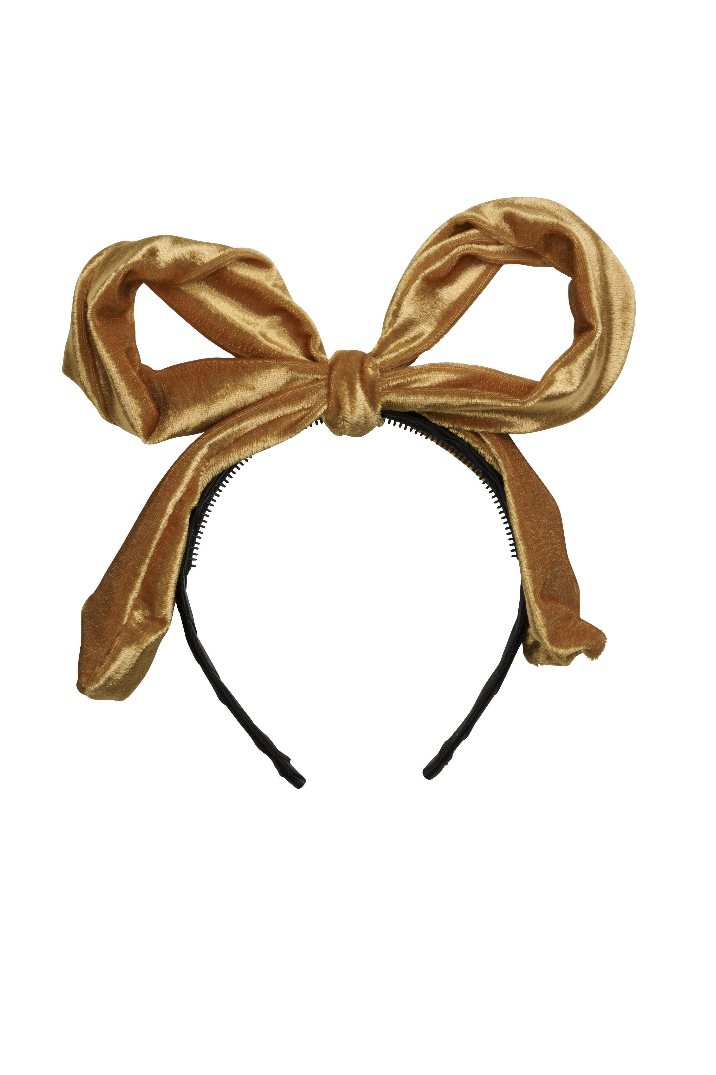 Party Bow - Gold Velvet - PROJECT 6, modest fashion