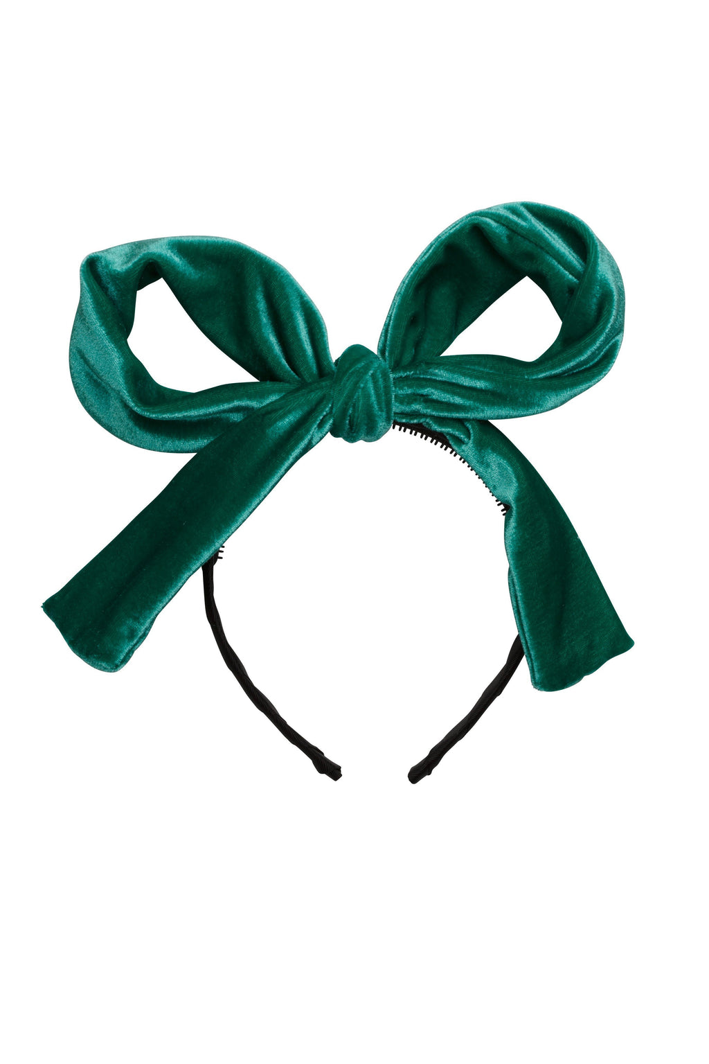 Party Bow - Jewel Tone Green Velvet - PROJECT 6, modest fashion