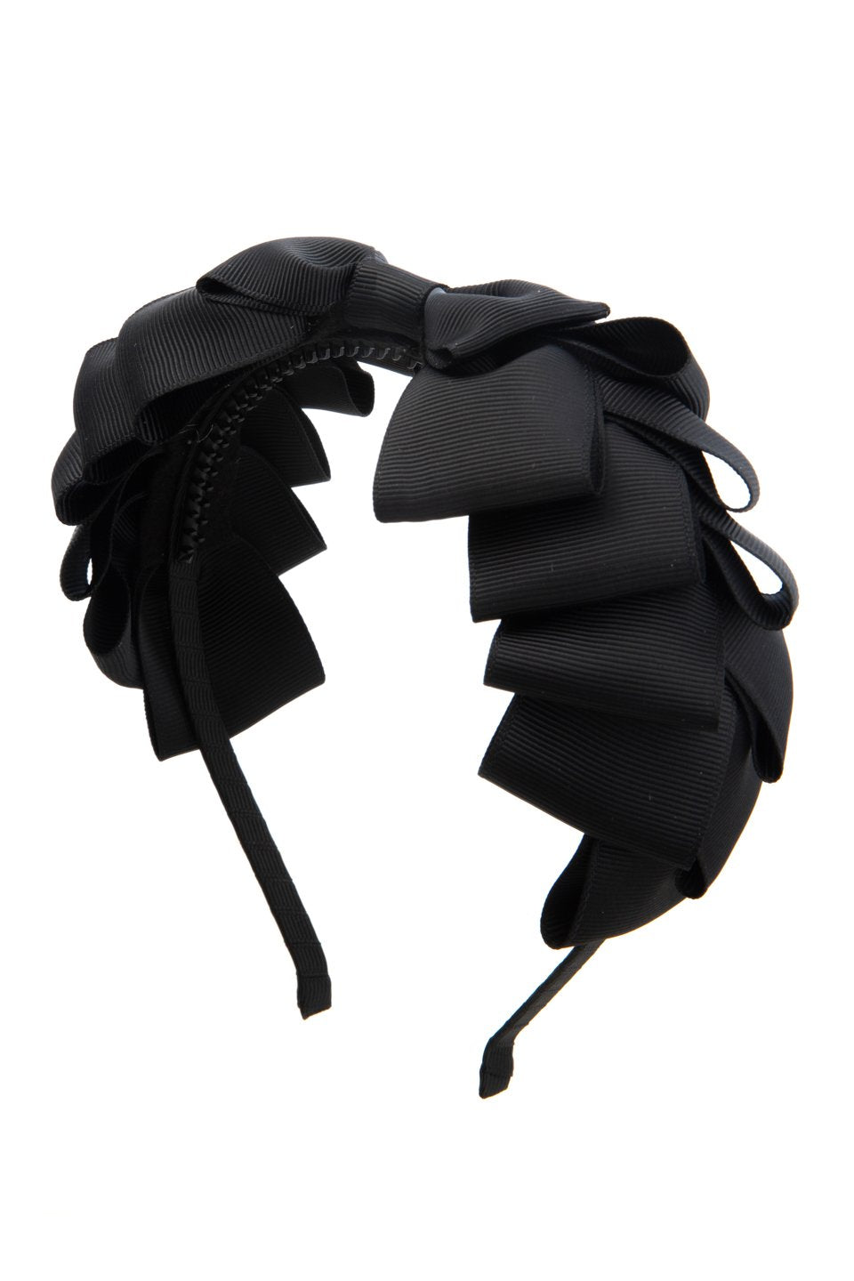 Pleated Ribbon Grosgrain Headband - Black - PROJECT 6, modest fashion