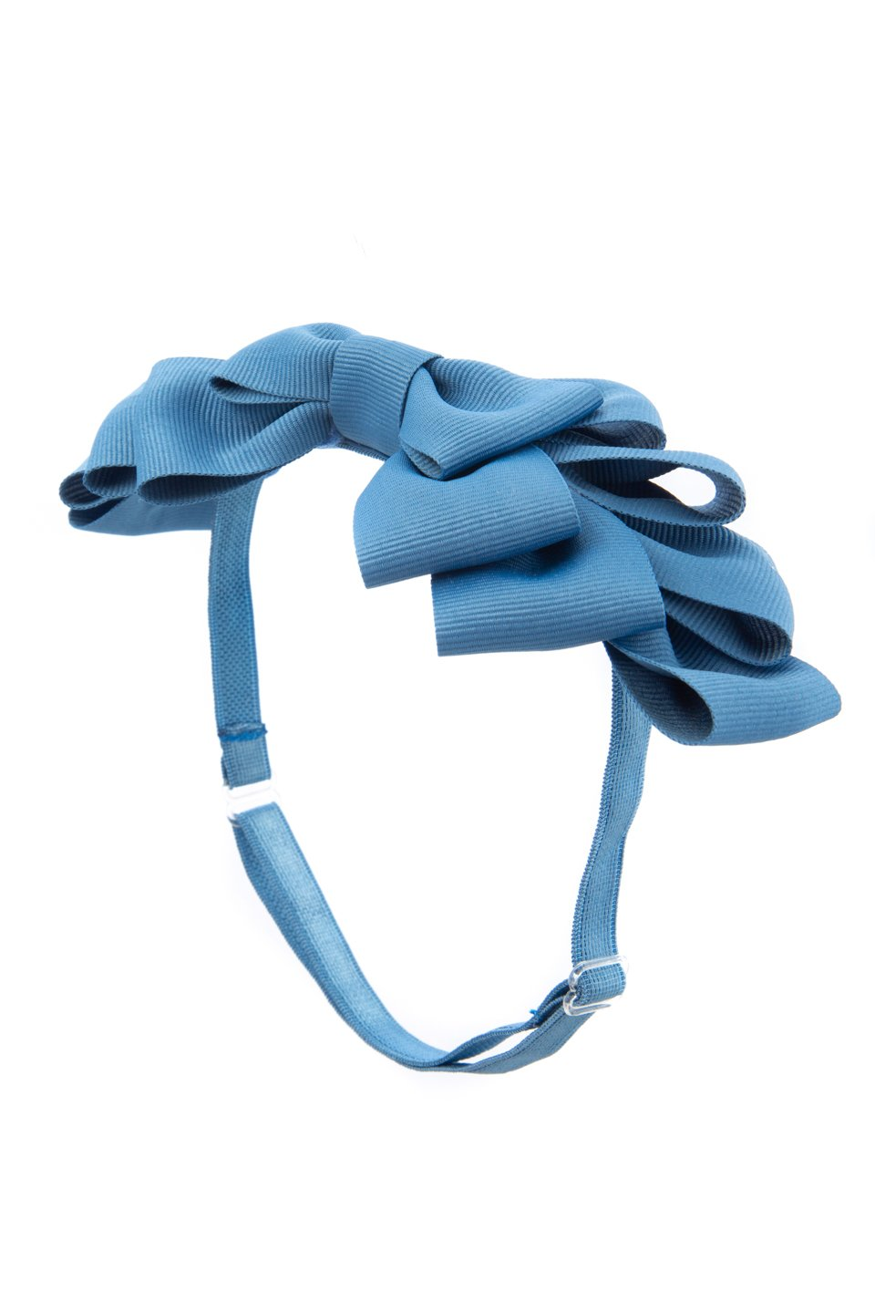 Pleated Ribbon Grosgrain Wrap - Smoke Blue - PROJECT 6, modest fashion