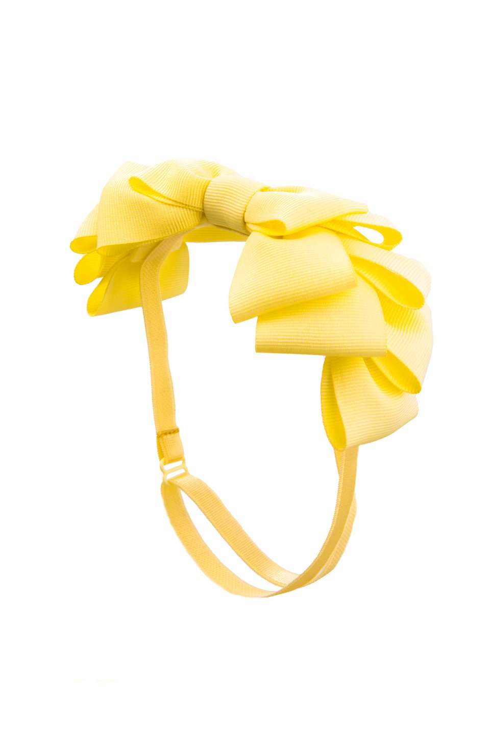 Pleated Ribbon Grosgrain Wrap - Lemon - PROJECT 6, modest fashion
