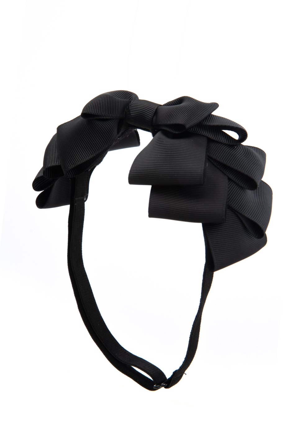 Pleated Ribbon Grosgrain Wrap - Black - PROJECT 6, modest fashion