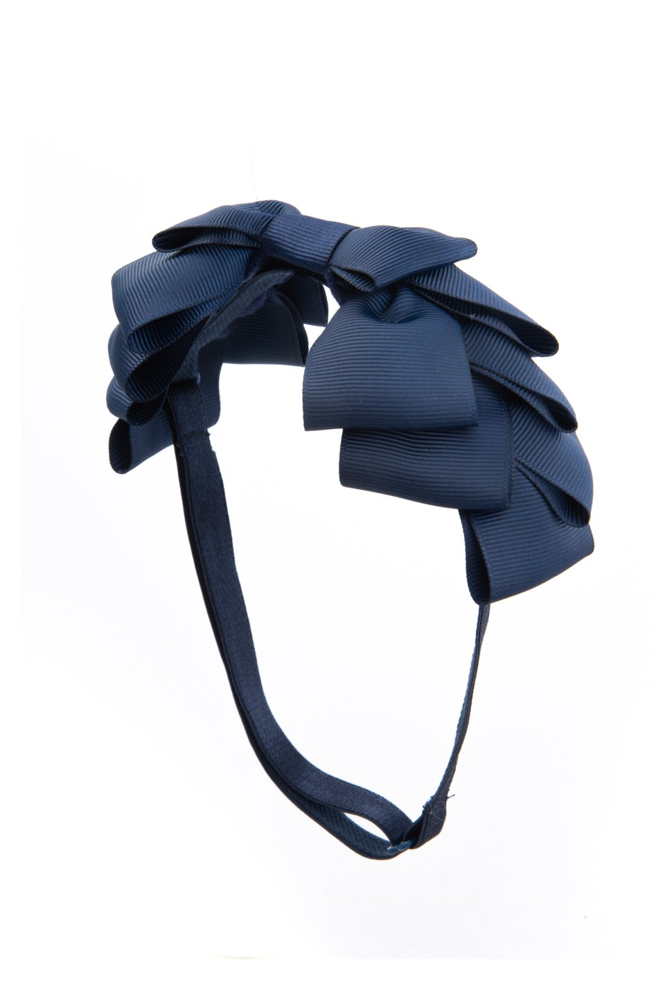 Pleated Ribbon Grosgrain Wrap - Navy - PROJECT 6, modest fashion