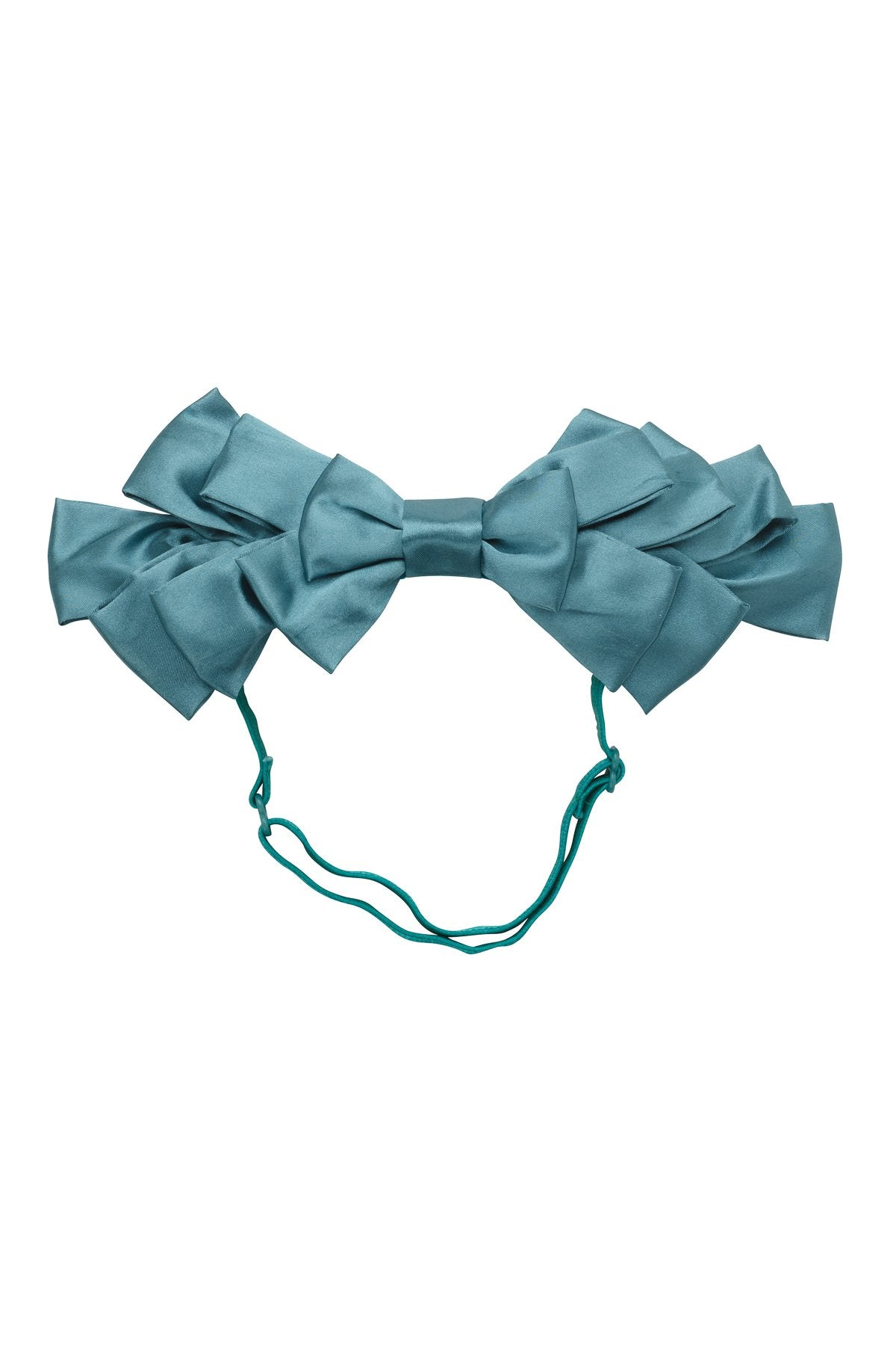 Pleated Ribbon Wrap - Teal - PROJECT 6, modest fashion