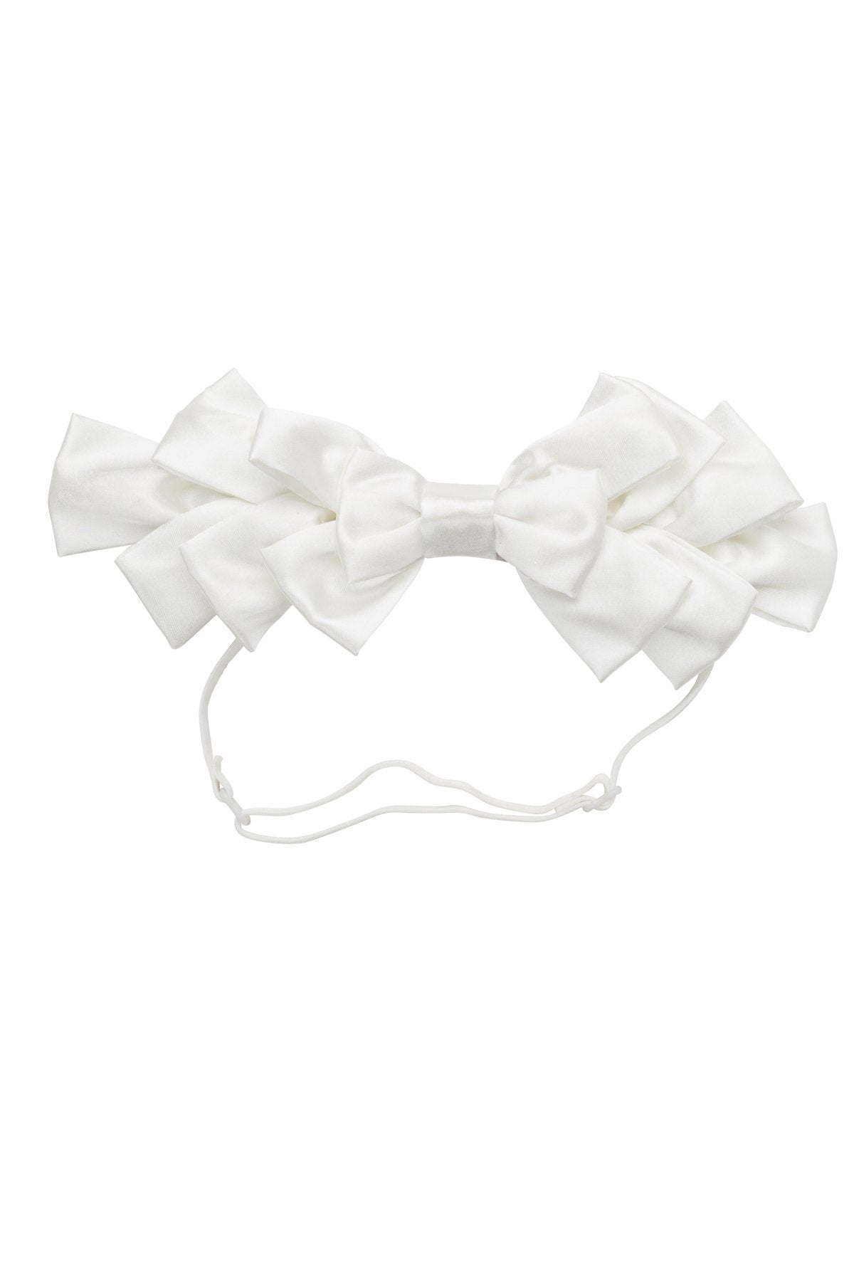 Pleated Ribbon Wrap - White - PROJECT 6, modest fashion