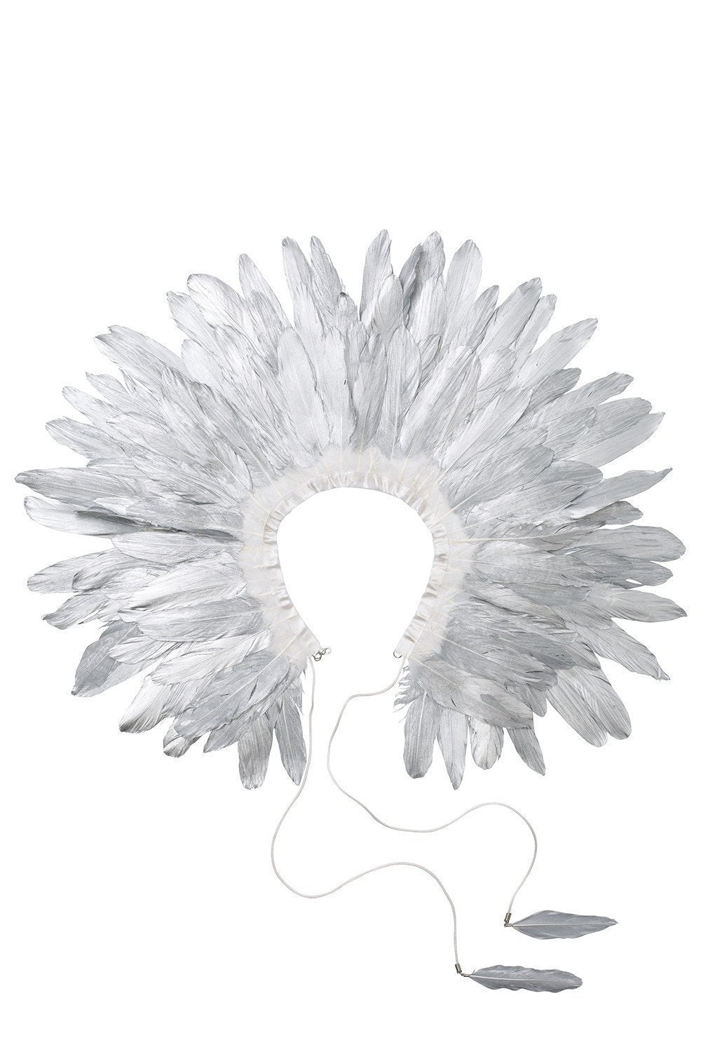 Feather Collar - Silver - PROJECT 6, modest fashion
