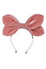 Load image into Gallery viewer, Growing Orchid Velvet Headband - Rose - PROJECT 6, modest fashion