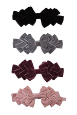 Load image into Gallery viewer, Pleated Ribbon Velvet Wrap - Blush - PROJECT 6, modest fashion