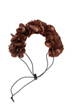 Load image into Gallery viewer, Floral Wreath Petit - Brown - PROJECT 6, modest fashion