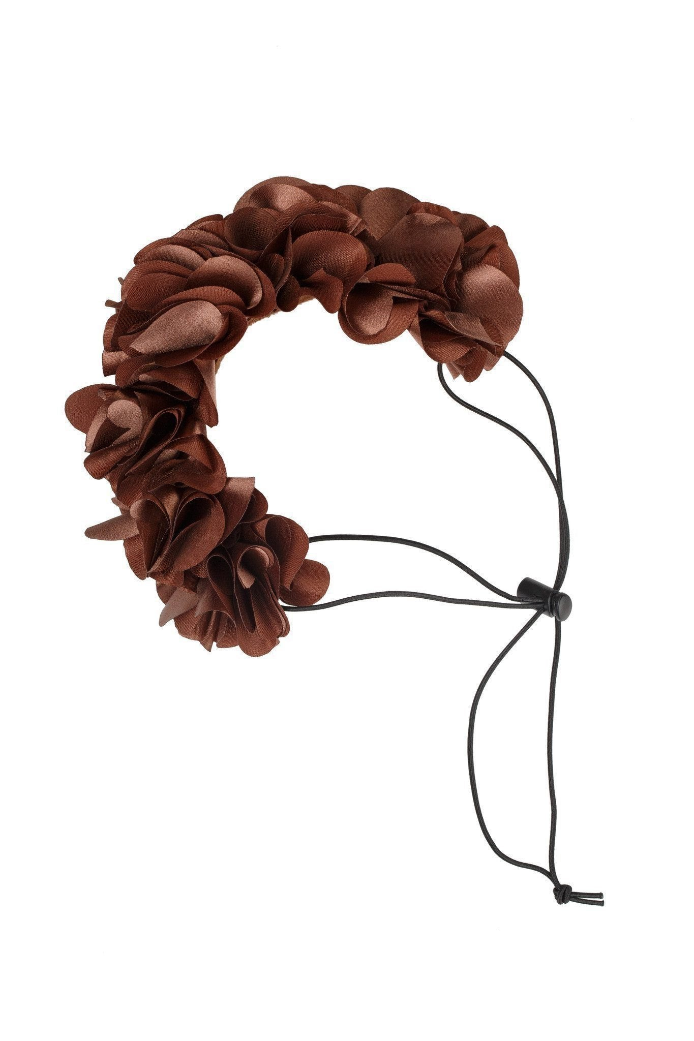 Floral Wreath Petit - Brown - PROJECT 6, modest fashion