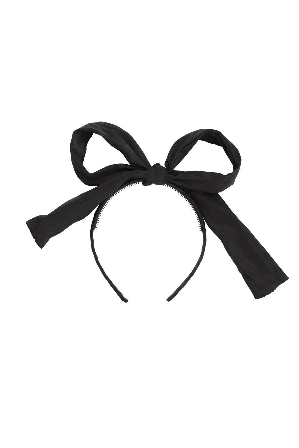 Party Bow Taffeta - Black - PROJECT 6, modest fashion