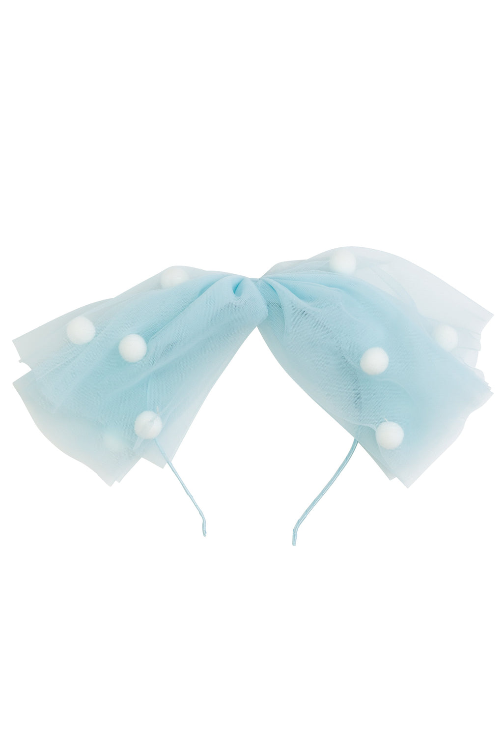 1940's Bow Headband - Light Blue/White - PROJECT 6, modest fashion