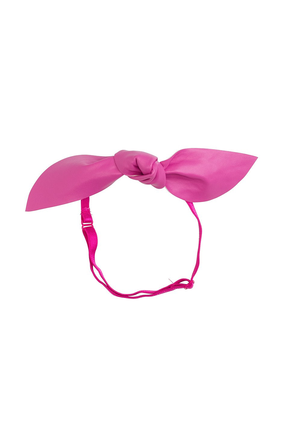 Perfect Leather  Pointy Bow Wrap - Hot Pink - PROJECT 6, modest fashion
