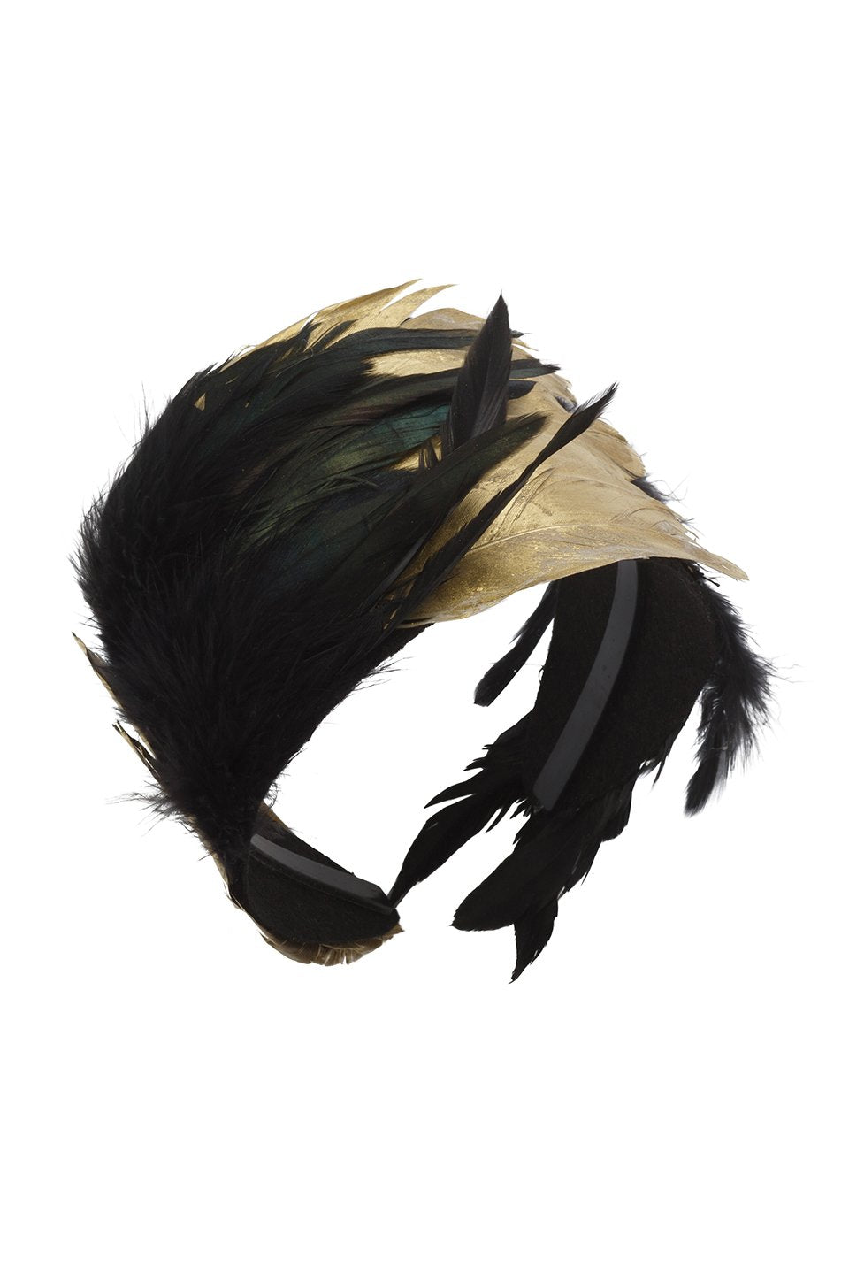 Feather Headband - Black/Gold - PROJECT 6, modest fashion