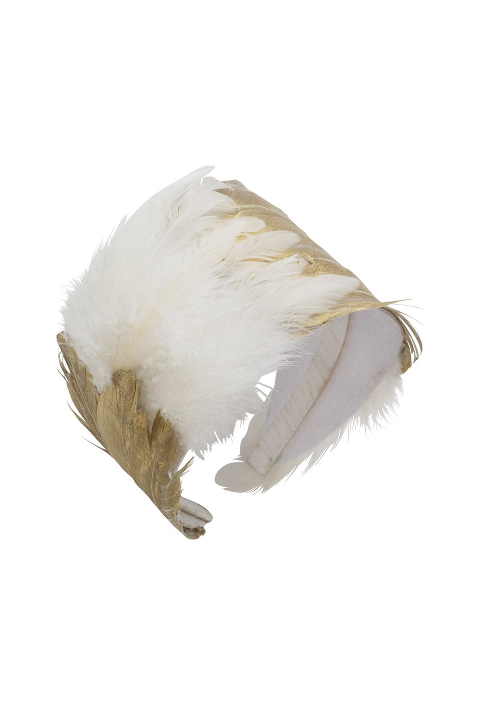 Feather Headband - White/Gold - PROJECT 6, modest fashion
